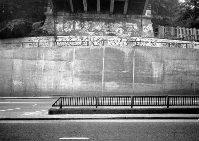 "Title: Under Suicide Bridge<br/>Year : 2005<br/>Material : Archival B&W inkjet on Permajet Fine Art<br/>Dimensions : 10""x6"""